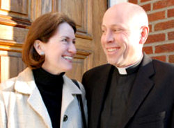 Father Tom McMichael and his wife Karin