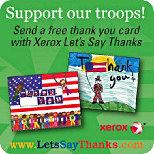 Xerox Thanks Troops