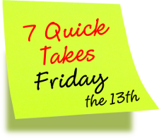 7 Quick Takes Friday the 13th