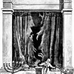 Torn temple curtain